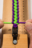 Paracord manual. Serries on how to know a basic paracord bracelet Stock Photo