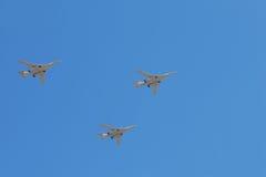 parad 160 samolotów tu Obrazy Royalty Free
