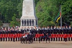 parad urodzinowe królowe Obrazy Royalty Free