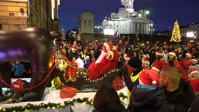 Parada Święty Mikołaj w Helsinki, Finlandia zbiory