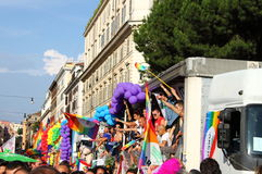 Parada 2011 do orgulho de Roma euro- Fotos de Stock