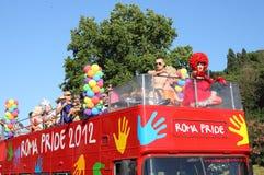 Parada 2012 do orgulho de Roma Imagem de Stock