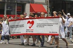 Parada alegre do orgulho de 2010 NYC Fotografia de Stock Royalty Free
