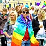 Parada alegre do orgulho de Helsínquia fotografia de stock royalty free