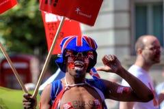 Parada alegre do orgulho em Manchester, Reino Unido 2011 Fotografia de Stock Royalty Free