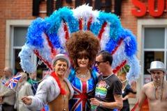 Parada alegre do orgulho em Manchester, Reino Unido 2011 Fotos de Stock Royalty Free