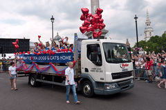 Parada alegre Londres 2011 do orgulho Foto de Stock