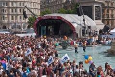 Parada alegre Londres 2011 do orgulho Fotografia de Stock