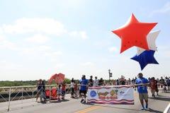 Parada americana do Dia da Independência fotos de stock royalty free