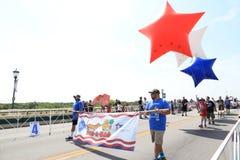 Parada americana do Dia da Independência foto de stock