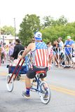 Parada americana do Dia da Independência imagem de stock