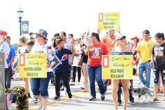 Parada americana do Dia da Independ?ncia fotografia de stock