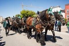 Parada anual do ` s de StGeorge Foto de Stock
