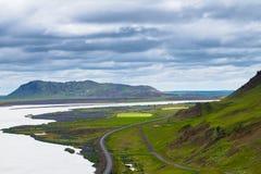 Parada ao longo de Ring Road, Islândia do resto Foto de Stock