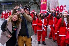 Parada asystenci święty Nicholas w Uzhgorod Zdjęcia Stock
