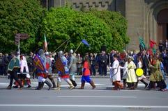 Parada búlgara da festa do exército, Varna Bulgária Fotografia de Stock