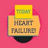 Parada card?aca do texto da escrita da palavra Conceito do negócio para a falha severa do coração funcionar corretamente eletrôni ilustração do vetor