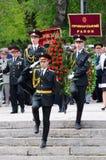 A parada cerimonial dedicou ao 69th aniversário da vitória na grande guerra patriótica, Odessa Fotografia de Stock