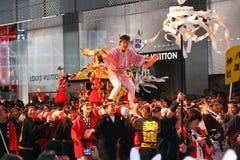 Parada chinesa 2011 da noite do ano novo de Int'l Foto de Stock