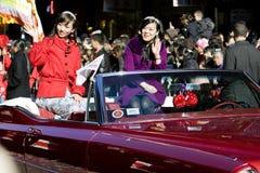 Parada chinesa do ano novo em Chinatown Imagens de Stock