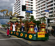 A parada chinesa do ano novo em Los Angeles Fotos de Stock