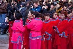 Parada chinesa do ano novo em Milão Fotografia de Stock Royalty Free