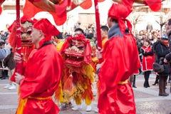 Parada chinesa do ano novo em Milão Fotografia de Stock
