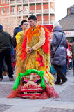 Parada chinesa do ano novo em Milão Imagem de Stock Royalty Free