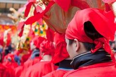 Parada chinesa do ano novo em Milão Fotos de Stock