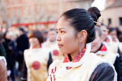 Parada chinesa do ano novo em Milão Imagens de Stock Royalty Free