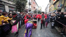 Parada chinesa do ano novo em Milão 2014 Foto de Stock Royalty Free