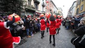 Parada chinesa do ano novo em Milão 2014 Foto de Stock