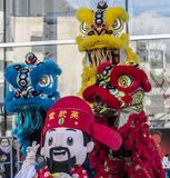 Parada chinesa do ano novo - o ano do cão, 2018 fotografia de stock royalty free
