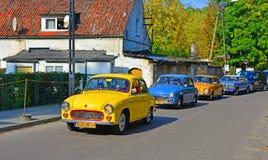 Parada clássica do carro em uma feira automóvel foto de stock royalty free