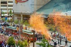 Parada confetti Fotografia Stock