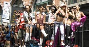 Parada da dança de New York City fotos de stock royalty free
