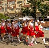 Parada da escola, dia da proteção das crianças imagem de stock