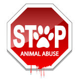 Pare o abuso animal Fotografia de Stock