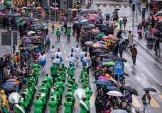 Parada da mola do ` s das crianças em Zurique, Suíça Imagem de Stock
