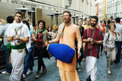 Parada da rua de Krishna da lebre mini Imagens de Stock