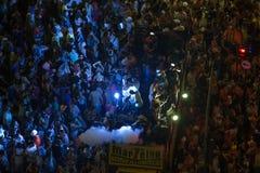 Parada da rua do carnaval em Copacabana foto de stock royalty free