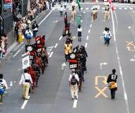 Parada da rua durante o festival de Nobunaga em Gifu, Japão Imagens de Stock