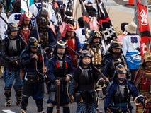 Parada da rua durante o festival de Nobunaga em Gifu, Japão Fotos de Stock