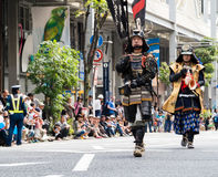 Parada da rua durante o festival de Nobunaga em Gifu, Japão Fotografia de Stock Royalty Free