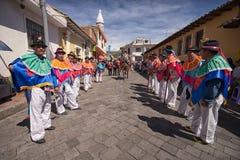 Parada da rua em Pujili Equador Fotografia de Stock