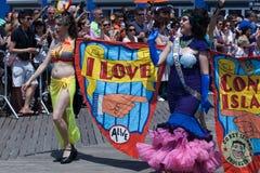 Parada da sereia de Coney Island imagens de stock
