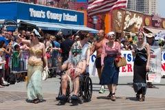 Parada da sereia de Coney Island fotografia de stock