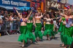 Parada da sereia de Coney Island imagem de stock
