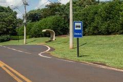 Parada de autobús Fotografía de archivo