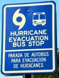 Parada de autobús de la evacuación Imágenes de archivo libres de regalías